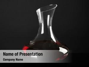 Wine glass carafe dark