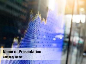Graph stock market screen