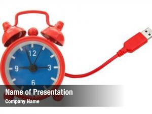 Clock red alarm vintage usb
