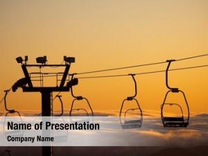 Lift empty ski chairlift silhouette