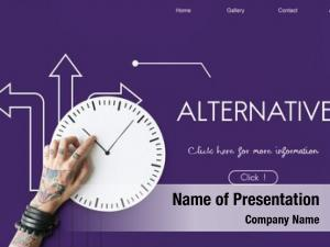 Alternative directions powerpoint theme