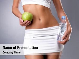 Body healthy female apple bottle