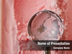 Cream empty ice disher over