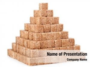 Reed pyramid cubes sugar white