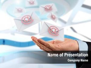 Email business hand messages flying,