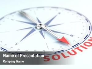Concept business solution compass needle