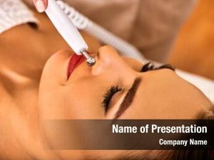 Skin electric stimulation care woman