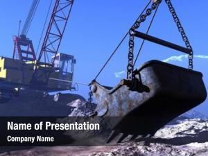 Quarry excavators working