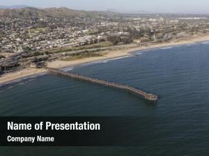 Beach ventura pier aerial southern