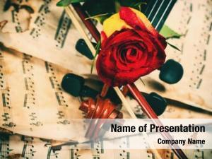 Violin sheet powerpoint template