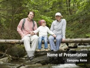 Family mountain trek trek