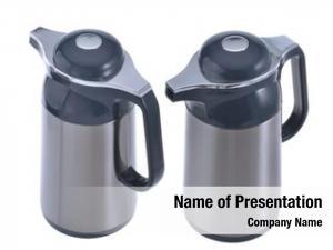 White thermo flasks