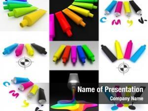 Paint set tubes cmyk colors