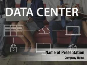 Businesspeople global data center