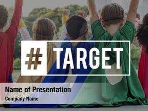 Group of kids network goals target