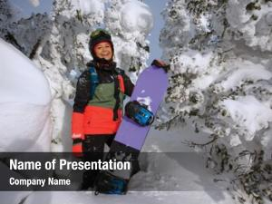 Girl beautiful young snowboard