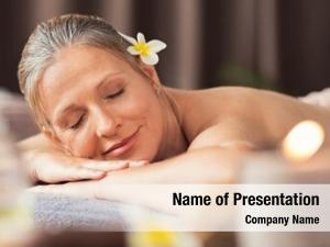 Woman beautiful blond relaxing spa