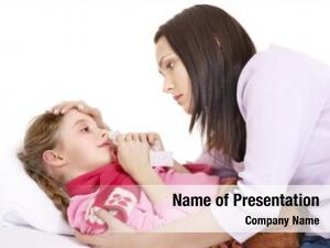 Girl sick little mother