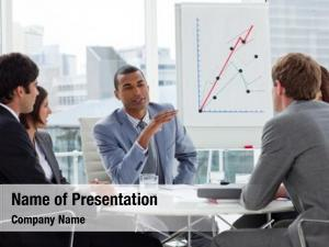Group positive business having meeting