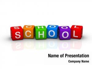 Colorful school (buzzword cubes series)