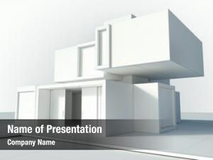 House white modern draft lines