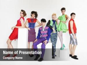 Fashion young elegant models