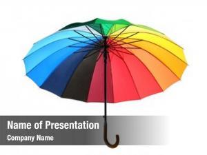 White rainbow umbrella