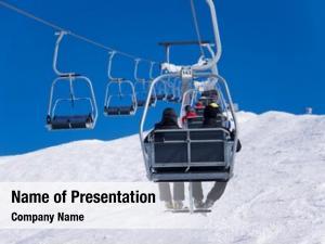 Slope chairlift ski