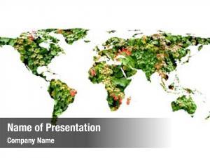World conceptual flat map leaves
