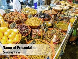 Market selection olives symbolic photo