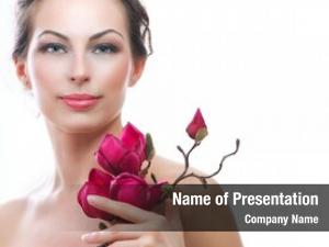 Spring spa woman flowers