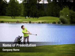 Pitching golf player golf ball