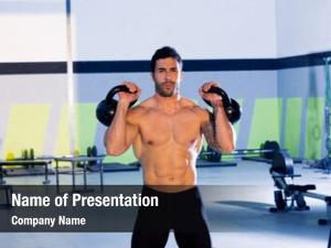 Gym fitness man standing fitness