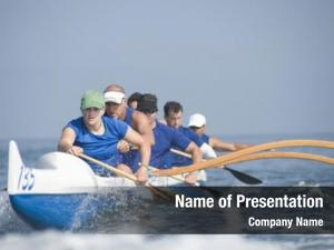 Canoeing multiethnic outrigger team race