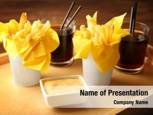 Tasty fries powerpoint template