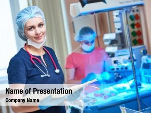 Portrait female doctor front