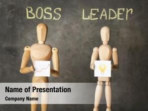 Boss vs leader powerpoint background