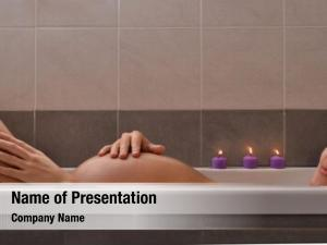 Woman serene pregnant relaxing candle