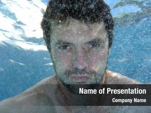 Pool, man underwater underwater photo,