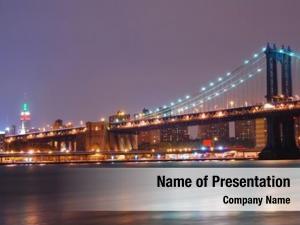 City new york night scene