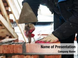 Mason hands construction worker bricklayer