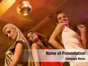 Night girls dancing club