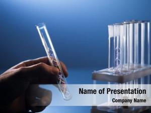 Glass dna molecule tube hand