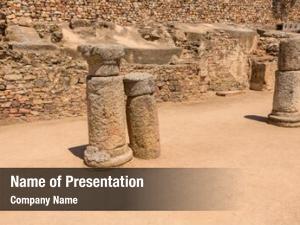 Columns old roman antique theater