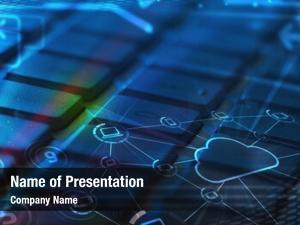Glowing computer keyboard cloud computing