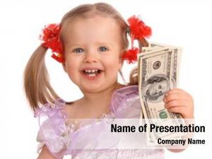 Dollar baby girl banknote