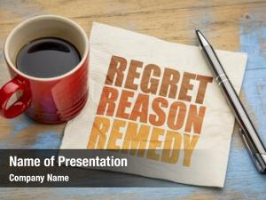 Regret reason powerpoint template