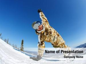 Snowboarder with his powerpoint theme