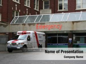 Entrance emergency room ambulance