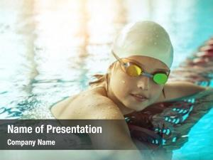 Swimmer child powerpoint background